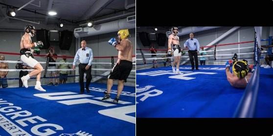Paulie Malignaggi knocked down agaisnt conor McGregor
