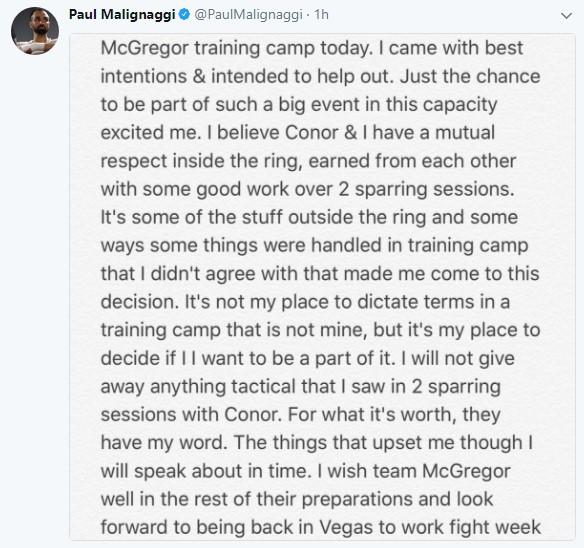 Screenshot 111 - Paulie Malignaggi left McGregors camp saying he beat his ass!