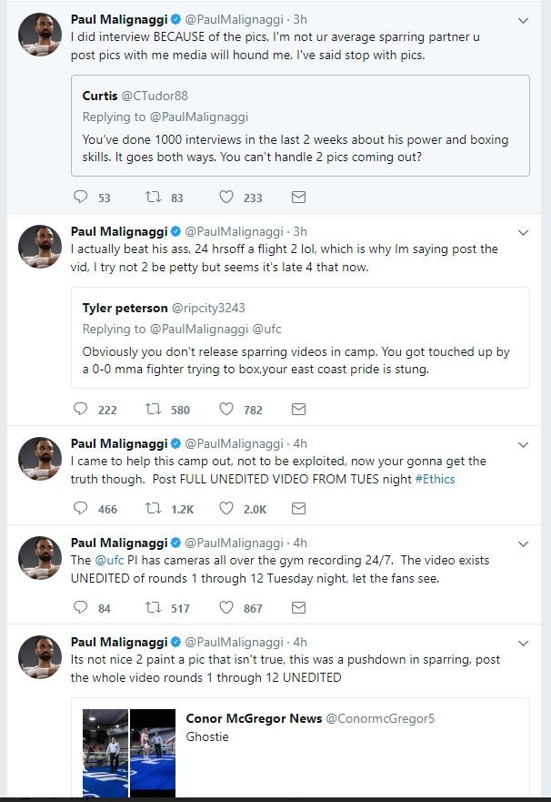 Screenshot 113 - Paulie Malignaggi left McGregors camp saying he beat his ass!