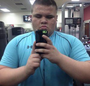 Dillon Hinojosa before jiu jitsu