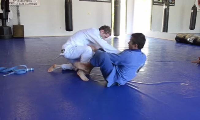 Blue Belt Taps Out Black Belt