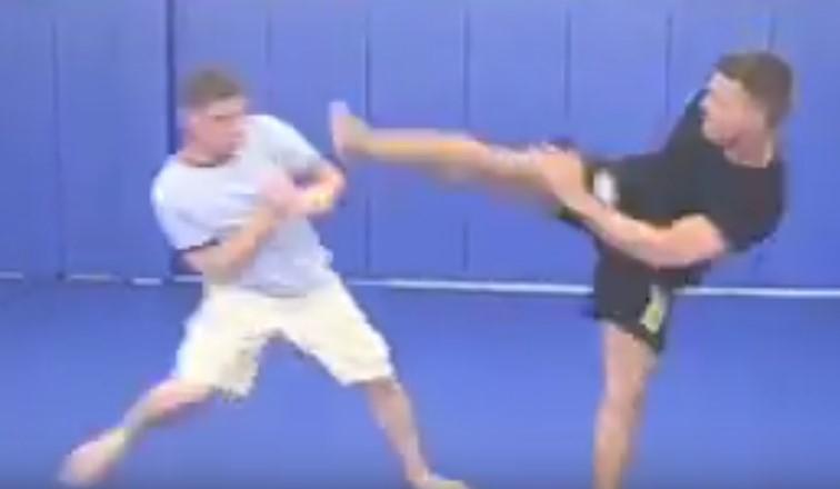 Kung Fu vs BJJ in Renzo's Gym