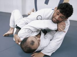 Escaping side control with an armlock